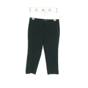 Old Navy 10R Harper Black Anchor Nautical Pants